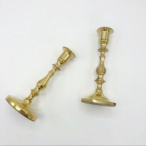 Baldwin Brass Candlesticks • Set of 2